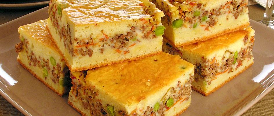 Torta de carne - Mais uma das receitas top que temos no nosso caderninho, aproveita e anota ai. Fácil de fazer e muito deliciosa. Rende muitas porções